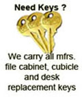 Office furniture keys